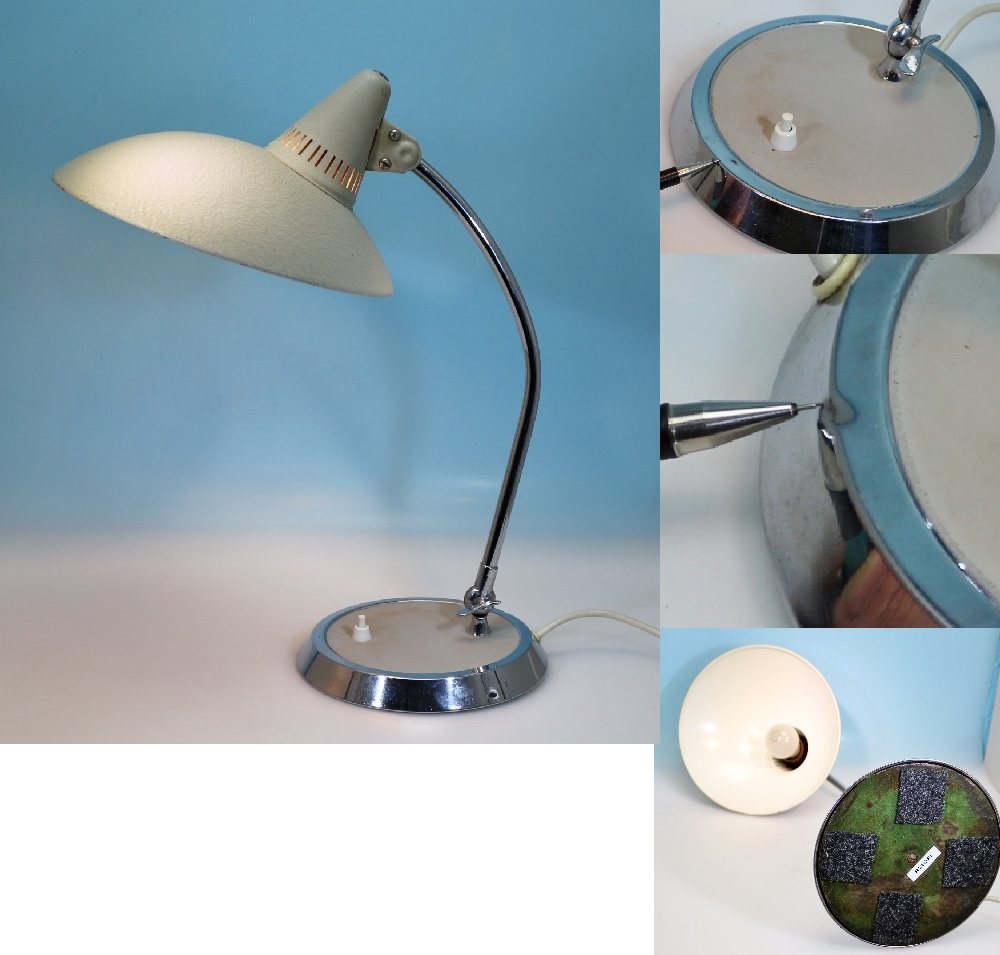 kaiser lampe nexellack chromring 2 von 2 vintage ebay. Black Bedroom Furniture Sets. Home Design Ideas