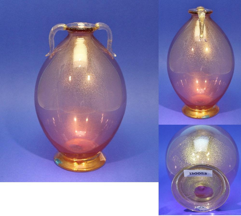 Murano Vase Mit Feiner Goldfolie Entwurf Carlo Scarpa F R